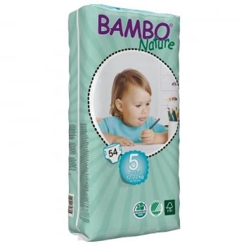 Scutece Bambo Nature ECO Junior Nr. 5, 12-22 kg, 54 buc