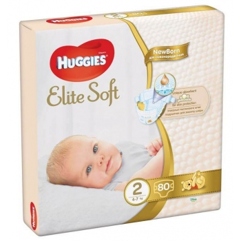 Scutece Huggies Elite Soft Mega 2, 4-7 Kg, 80 buc