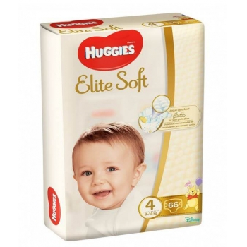 Scutece Huggies Elite Soft Mega 4, 8-14 Kg, 66 buc