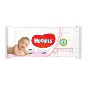 Servetele Umede Huggies Soft Touch, 56 buc