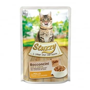 Stuzzy, Pui, plic hrană umedă pisici, (bucăți în aspic), 85g