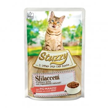 Stuzzy, Vită, plic hrană umedă pisici, (fâșii în sos), 85g