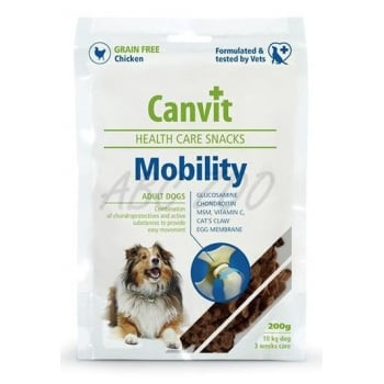 Snack pentru Caini Canvit Mobility 200 g imagine