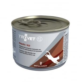 TROVET Cat Hepatic HLD, dietă veterinară pisici, conservă hrană umedă, afecțiuni hepatice, (pate), 200g