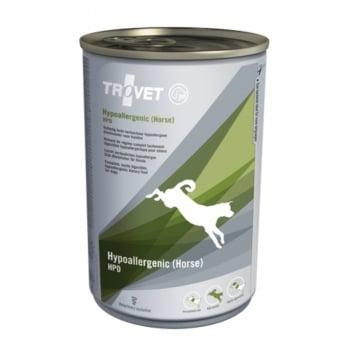 TROVET Dog Hypoallergenic HPD, Cal, dietă veterinară câini, conservă hrană umedă, afecțiuni digestive si dermatologice, (pate), 400g