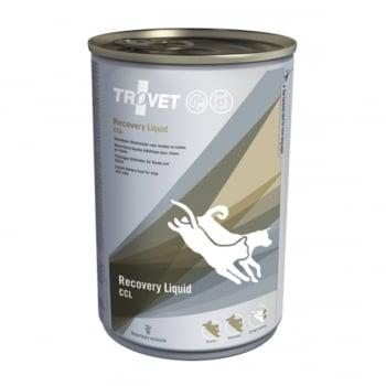 TROVET Recovery Liquid CCL, dietă veterinară câini și pisici, hrană lichidă, convalescență si recuperare postoperatoriu, (pate),400g