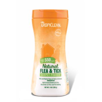 Tropiclean Flea and Tick Carpet and Pet Powder, 325 g imagine