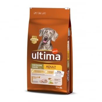 ULTIMA Dog Medium & Maxi Adult, Pui, hrană uscată câini, 12kg