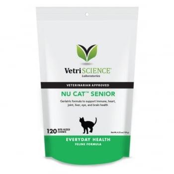VETRI SCIENCE Nu-Cat Senior, Bite-sized Chews, multivitamine pisici senior, 30cpr masticabile