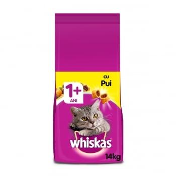 WHISKAS Adult, Pui, hrană uscată pisici, 14kg