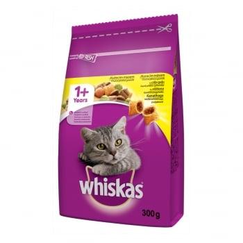 WHISKAS Adult, Pui, hrană uscată pisici, 300g