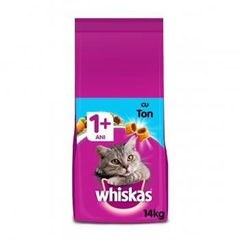 WHISKAS Adult, Ton, hrană uscată pisici, 14kg
