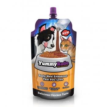YUMMY RADE, toping potențiator hrană câini și pisici, Pui, 250ml