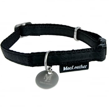 Zgarda Pentru Caini Macleather Negru 15mm imagine