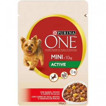 Purina One Dog Mini Active, Vita si Cartofi, 20x100 g imagine