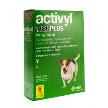 Activyl Tick Plus Sm Dog 150mg