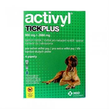 Activyl Tick Plus Caine XL, 40-60 kg, 4 pipete