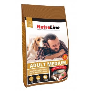Nutraline Dog Medium Adult, 3 kg imagine