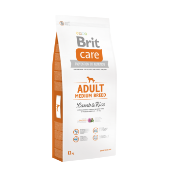 Brit Care Adult Medium Breed Miel si Orez 12 kg