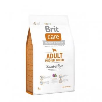 Brit Care Adult Medium Breed Miel si Orez, 3 kg