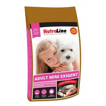 Nutraline Dog Adult Mini Exigent, 8 kg imagine