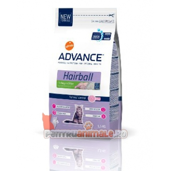 Advance Cat Adult Hairball Curcan si Orez 8 kg