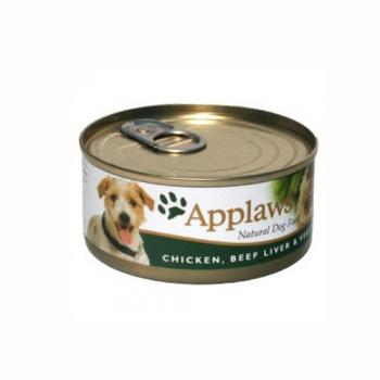 Applaws Dog Adult Piept de Pui Ficat de Vita si Legume 156g