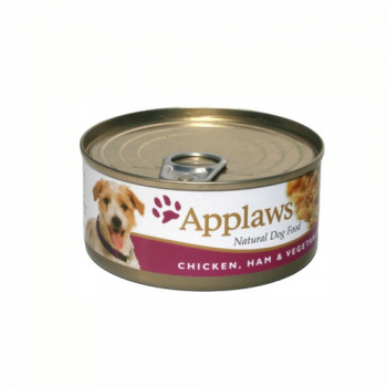 Applaws Dog Adult Piept de Pui  Sunca si Legume 156g