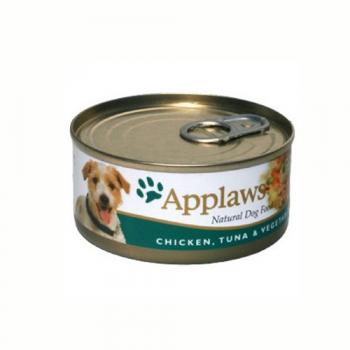 Applaws Dog Adult Piept de Pui  Ton si Legume 156g