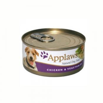 Applaws Dog Adult Piept de Pui si Legume 156g