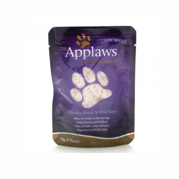 Applaws Cat Adult Piept de Pui si Orez Salbatic Plic 70 g