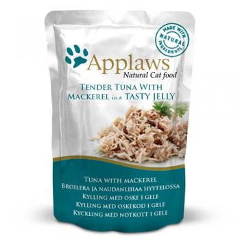 Applaws Cat Adult File de Ton si Macrou in Aspic Plic 70 g
