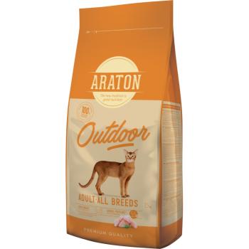 Araton Cat Adult Outdoor Pui si Curcan, 15 kg imagine