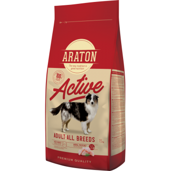 Pachet 2 x Araton Dog Adult Active, 15 Kg