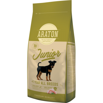 Pachet 2 x Araton Dog Junior 15 kg