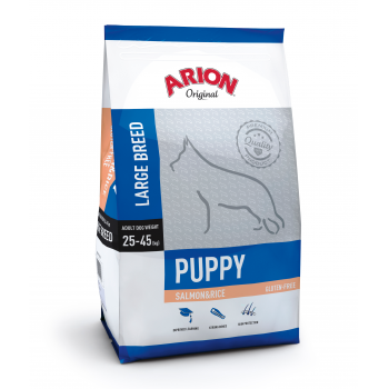 Arion Original Puppy Large Breed cu Somon si Orez, 12 kg