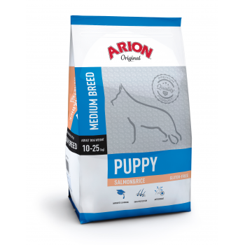 Arion Original Puppy Medium cu Somon si Orez, 3 kg
