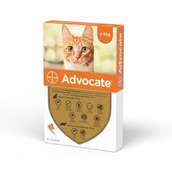 Advocate Pisica, < 4 kg, 3 pipete imagine