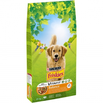 Friskies Dog Balance Pui si Legume, 15 kg