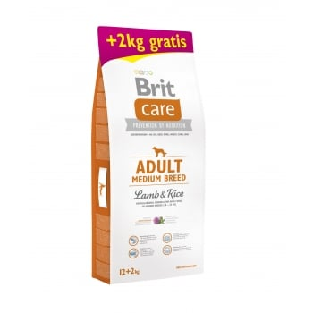 Brit Care Adult Medium Breed Lamb & Rice 12 + 2 kg