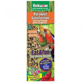 Belcuore Baton Papagali Mici cu Fructe de Padure 115 g / 2 bucati