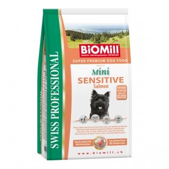 Biomill Swiss Professional Mini Adult Sensitive cu Somon 8 kg