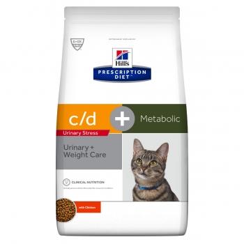 HILL'S PD c/d Urinary Stress + Metabolic, Hrana uscata pentru pisici Adult, cu Pui, 4 kg