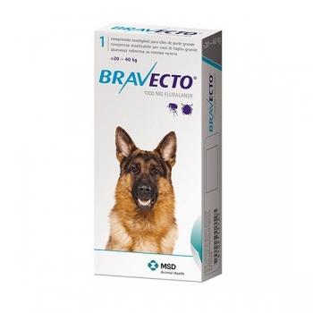 BRAVECTO, comprimate masticabile antiparazitare, câini 20-40kg, 1000 mg, 1 comprimat