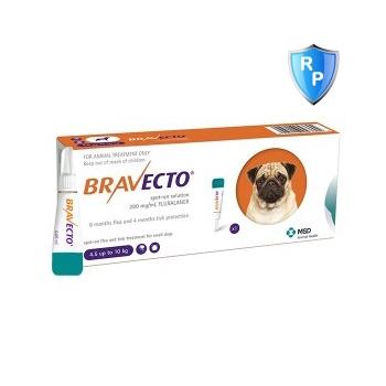 Bravecto Spot On Dog 250 mg, 4.5-10 kg, 1 pipeta imagine