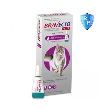 Bravecto Plus Spot On Cat 6.25-12.5 kg, 500 mg, 1 pipeta