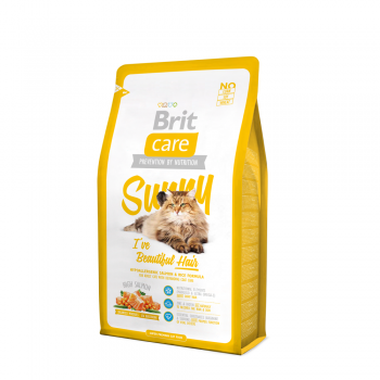 BRIT CARE CAT SUNNY BEAUTIFUL HAIR CU SOMON, 2 KG
