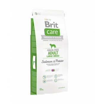 Brit Care Grain-Free Adult Large Breed Somon si Cartofi 12kg