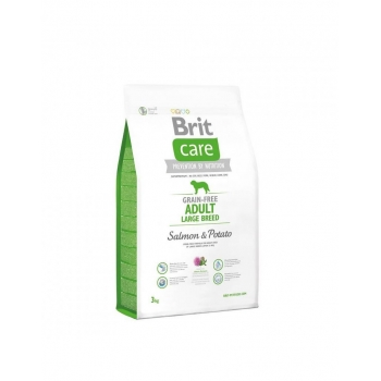 Brit Care Grain Free Adult Large Breed Somon si Cartofi, 3 kg