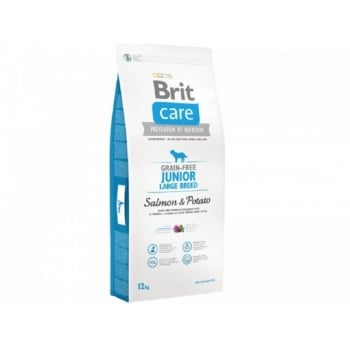 Brit Care Grain Free Junior Large Breed Somon si Cartofi, 12 kg
